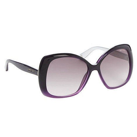 Jimmy Choo - Purple square ombre plastic sunglasses