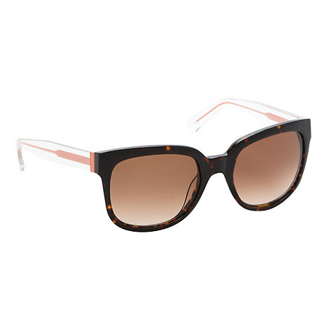 Marc by Marc Jacobs - Brown tortoiseshell square plastic sunglasses