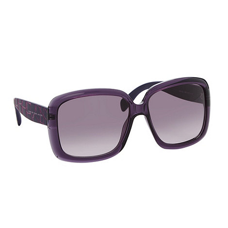 Marc by Marc Jacobs - Dark purple plastic mock croc arm sunglasses