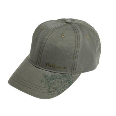 Khaki printed baseball cap