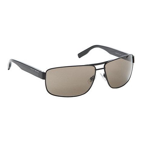 Boss Black - Grey metal wrap around sunglasses