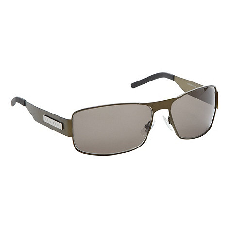Boss Black - Green navigator wrap around sunglasses