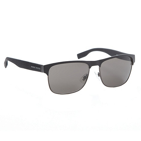 Boss Black - Grey metal square lens sunglasses