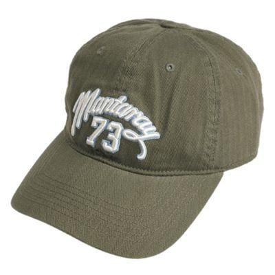 Khaki herringbone twill baseball cap