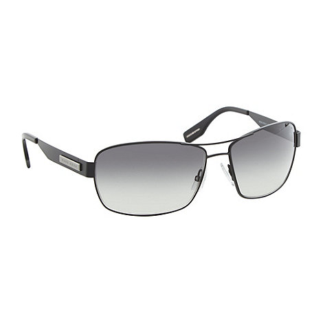 Boss Black - Grey lensed metal brow bar detail sunglasses