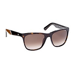 Police - Brown logo print sunglasses