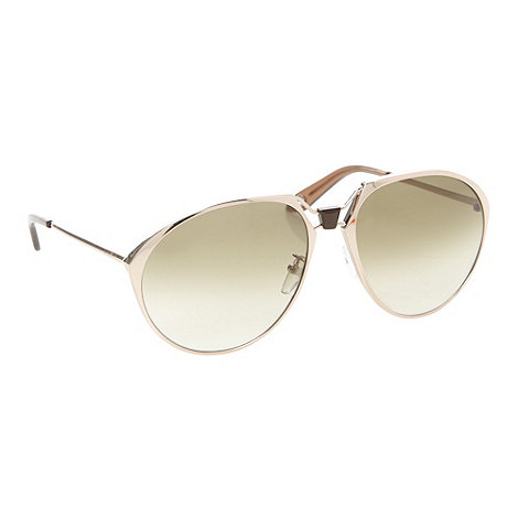 Givenchy - Gold oversize aviator sunglasses