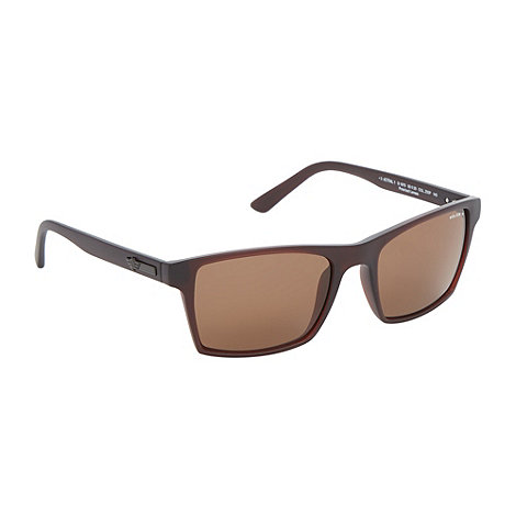 Police - Brown plastic square sunglasses