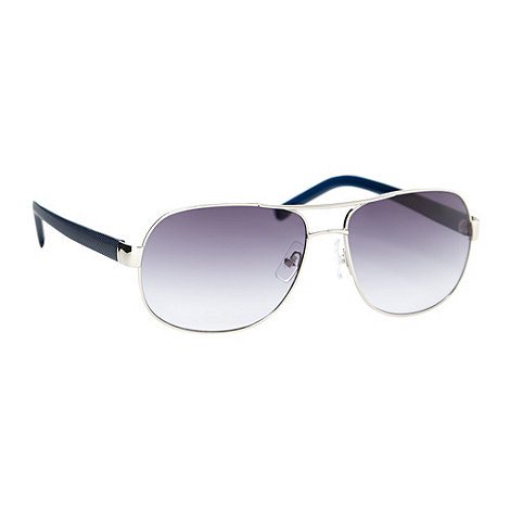 Lacoste - Blue plastic tinted aviator sunglasses