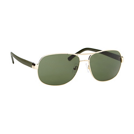 Lacoste - Green plastic tinted aviator sunglasses