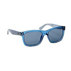 Lacoste - Blue plastic D-frame striped sunglasses