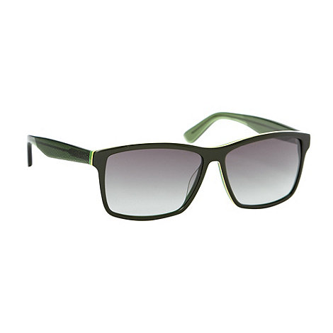 Lacoste - Green plastic graduated tinted D-frame sunglasses