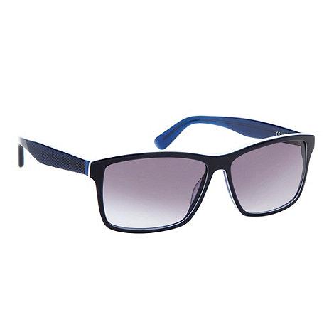 Lacoste - Blue plastic graduated tinted D-frame sunglasses