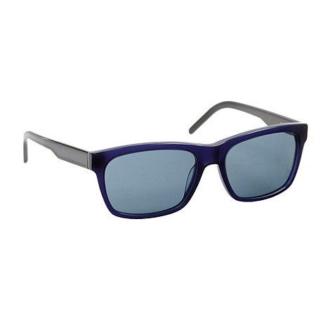 Lacoste - Blue plastic D-frame sunglasses