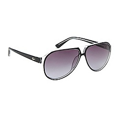 Lacoste - Black clear plastic aviator sunglasses