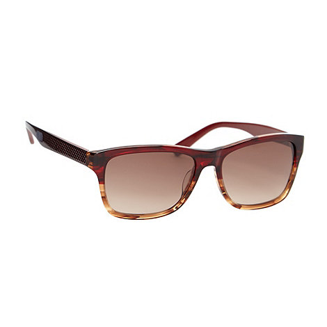 Lacoste - Brown tortoise shell D-frame honeycomb sunglasses