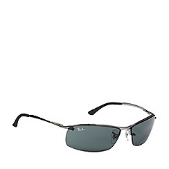 Ray-Ban - Green lensed rimless sunglasses