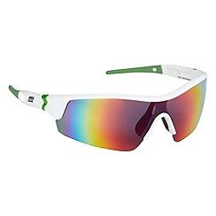 Dirty Dog - White polarised plastic squared frame sunglasses