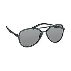 Red Herring - Green grey plastic aviator sunglasses