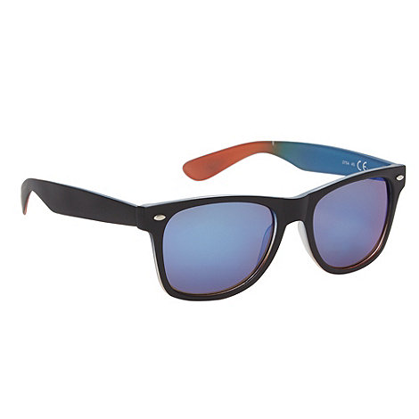 Red Herring - Blue tinted plastic tie dye inner sunglasses