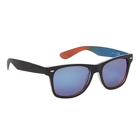 Red Herring - Blue tinted plastic tie dye inner sunglasses