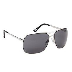 FFP - Grey tinted square metal sunglasses