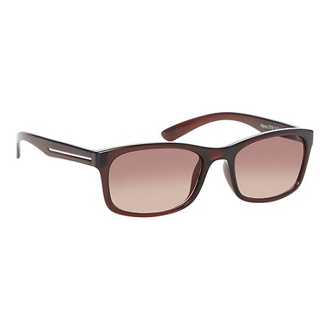 Maine New England - Brown plastic square lens sunglasses
