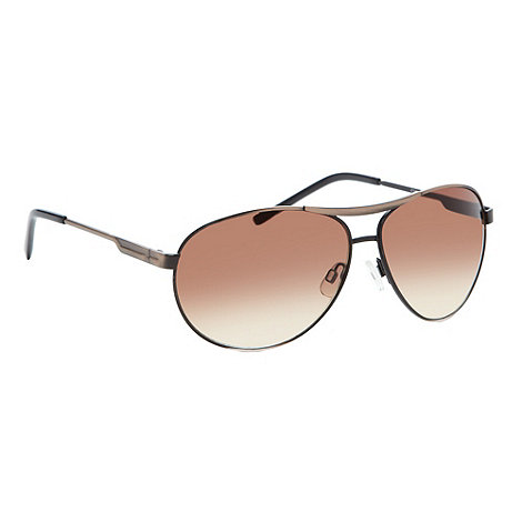 Red Herring - Brown tinted lens metal aviator sunglasses