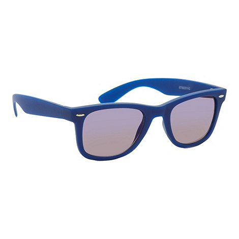 Red Herring - Blue rubberised D frame sunglasses
