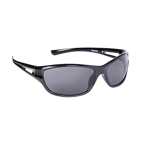 Mantaray - Grey plastic wraparound sunglasses