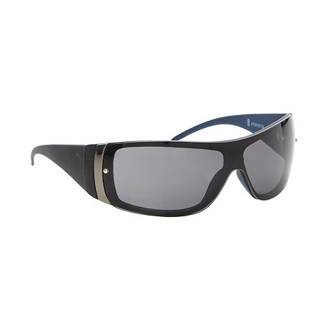 FFP - Grey plastic rimless wraparound visor sunglasses