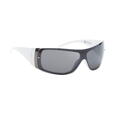 FFP - Grey tinted lens rimless visor sunglasses