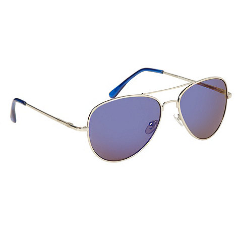 Red Herring - Silver metal mirrored aviator sunglasses