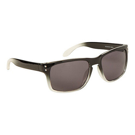 Red Herring - Black plastic graduated square dark tinted sunglasses