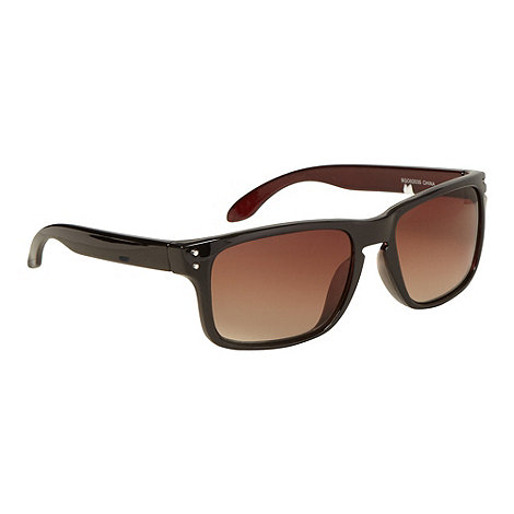 Red Herring - Brown plastic square dark tinted sunglasses