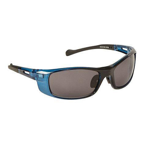 Mantaray - Blue plastic rectangle sunglasses