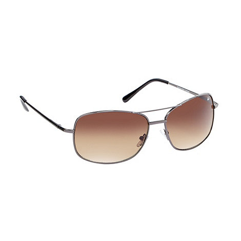 Mantaray - Brown metal square frame sunglasses