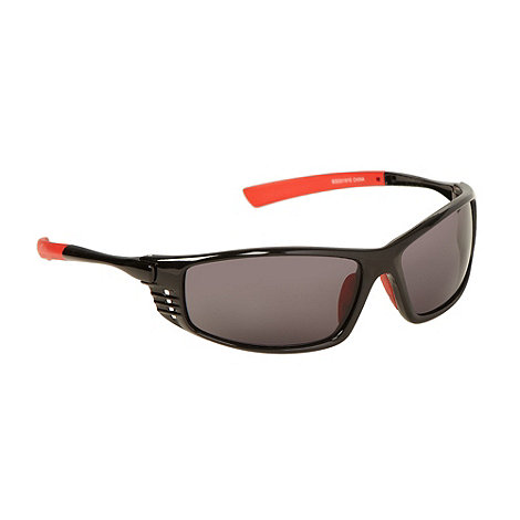 Mantaray - Black plastic rectangle cutout sunglasses