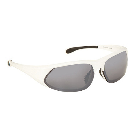 Mantaray - White plastic dark tinted rectangle sunglasses