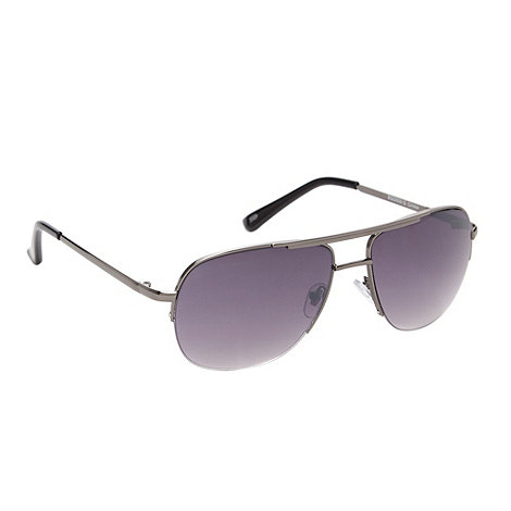 FFP - Silver aviator style half rim sunglasses