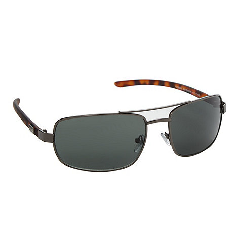 Storm - Green tortoiseshell wraparound sunglasses