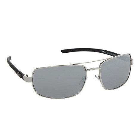Storm - Silver wraparound sunglasses