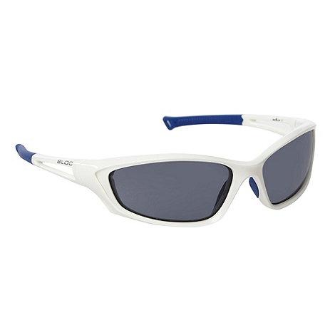 Bloc - White plastic wrap sunglasses