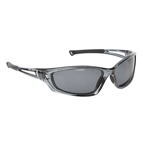 Bloc - Black polarised lens plastic wrap sunglasses