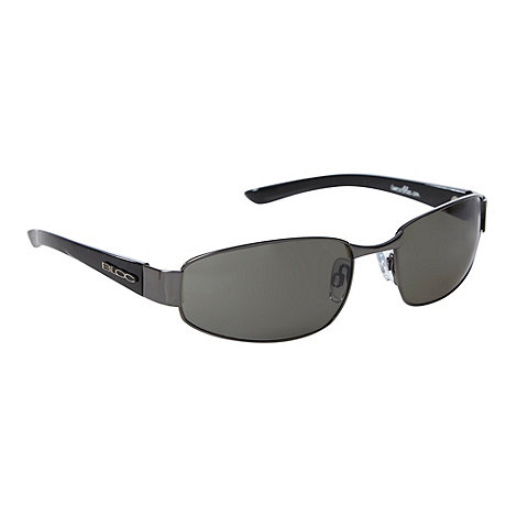 Bloc - Black metal rectangle frame sunglasses