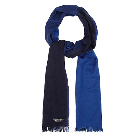 Hammond & Co. by Patrick Grant - Designer navy colour block wool scarf
