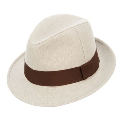 Osbourne Natural canvas trilby hat