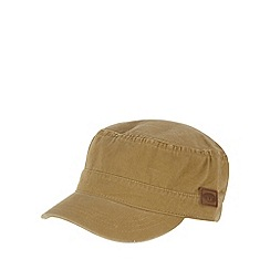 Animal - Taupe frayed detail train driver cap