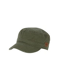 Animal - Khaki frayed detail train driver cap