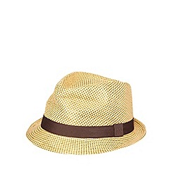 RJR.John Rocha - Designer brown straw trilby